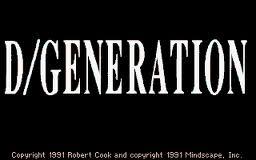 D/Generation per Atari ST