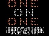 One on One per ColecoVision
