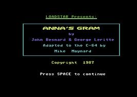 Anna's Gram per Commodore 64