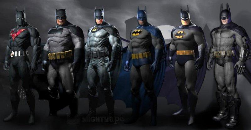Sei varianti dell'Uomo Pipistrello per Batman: Arkham City