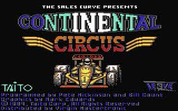 Continental Circus per Commodore 64