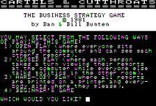 Cartels & Cutthroats per Commodore 64