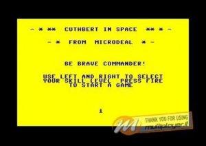 Cuthbert in Space per Commodore 64