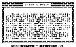 Drink & Drown per Commodore 64