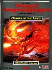 Heroes of the Lance per MSX