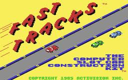 Fast Tracks: The Computer Slot Car Construction Kit per Commodore 64
