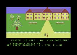 Handicap Golf per Commodore 64