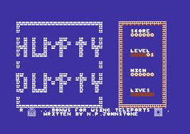 Humpty Dumpty meets the Fuzzy Wuzzies per Commodore 64