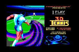 I Play 3D Tennis per Commodore 64