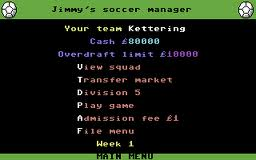 Jimmy's Soccer Manager per Commodore 64