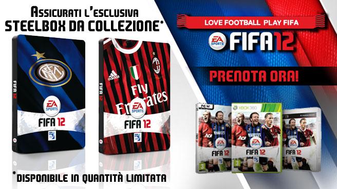 FIFA 12 - Con i preordini è possibile avere le Steel Box di Inter e Milan