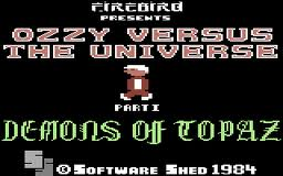 Ozzy Versus the Universe: Demons of Topaz per Commodore 64