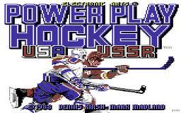 Powerplay Hockey per Commodore 64