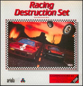 Racing Destruction Set per Commodore 64