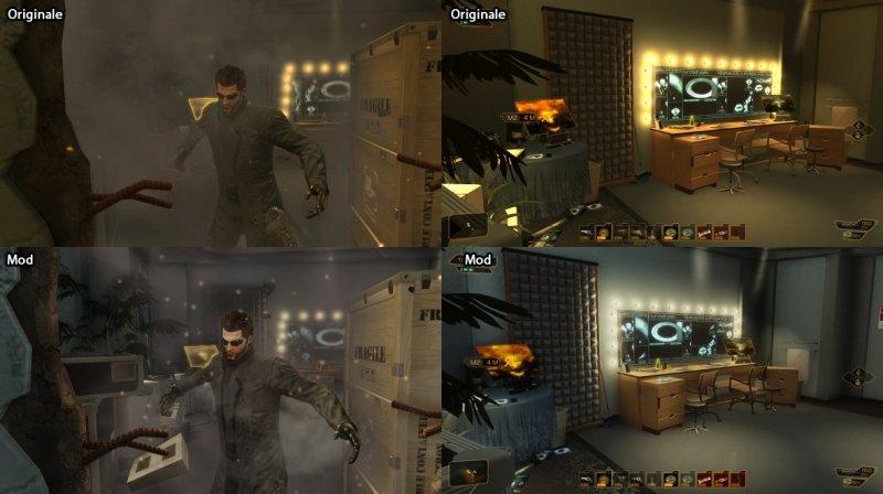 """Un mod rimuove l'effetto """"oro"""" da Deus Ex: Human Revolution"""