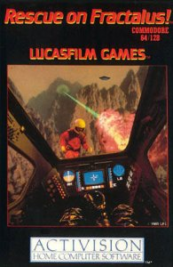 Rescue on Fractalus! per Commodore 64