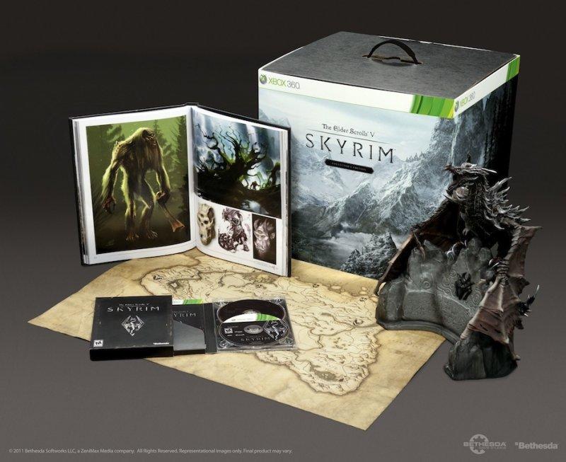 Skyrim: un'immagine della collector edition