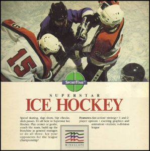 Superstar Ice Hockey per Commodore 64