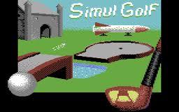 Simulgolf per Commodore 64