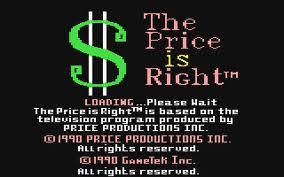The Price is Right per Commodore 64