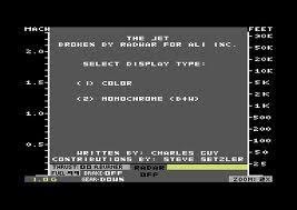The Jet per Commodore 64