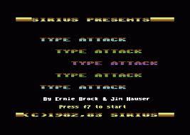 Type Attack per Commodore 64