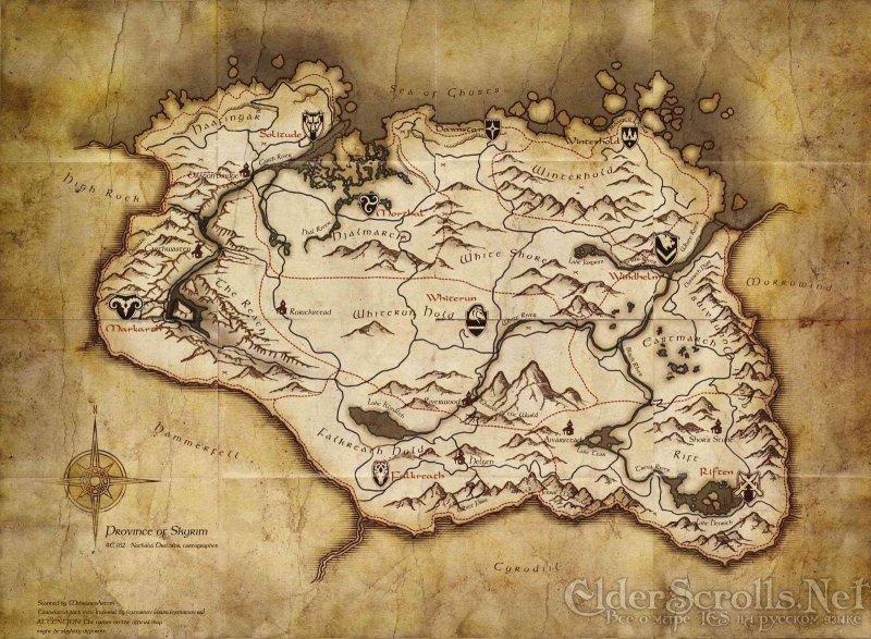 """""""Rubata"""" la mappa di Skyrim: è enorme"""