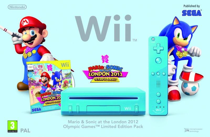 Il Wii in bundle con Mario e Sonic ai Giochi Olimpici di Londra 2012
