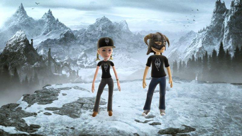 Gli avatar del Live si vestono da Dragonborn