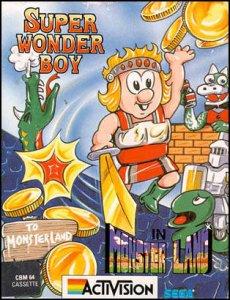 Wonder Boy in Monster Land per Commodore 64