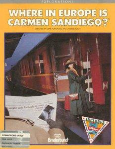 Where in Europe is Carmen Sandiego? per Commodore 64