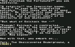 Zork: The Undiscovered Underground per Commodore 64