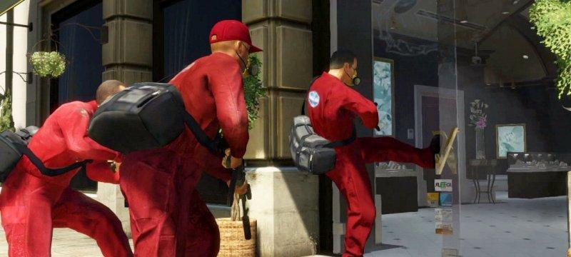 Guerra tra bande nello studio di GTA