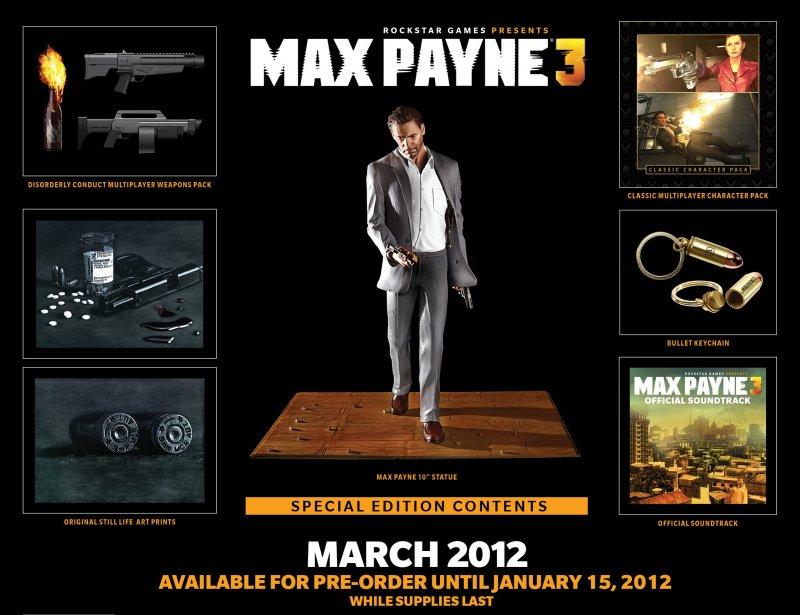 Annunciata la Special Edition per Max Payne 3