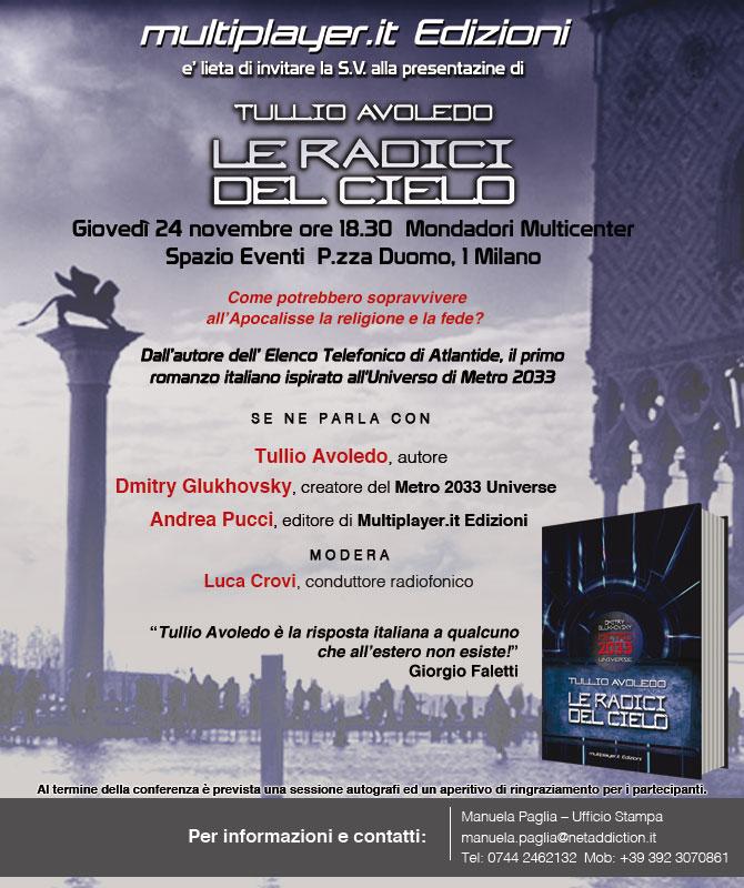 Metro 2033: Le Radici del Cielo - Siete tutti invitati alla presentazione