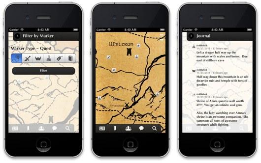 Dragon Shout: la mappa di Skyrim sempre a portata di mano su iOS