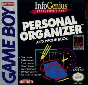 InfoGenius Productivity Pak: Personal Organizer and Phone Book per Game Boy