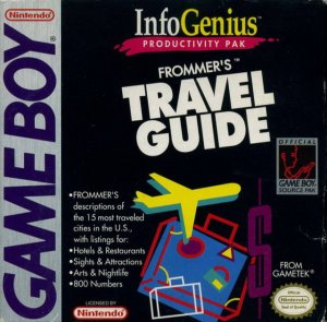 InfoGenius Productivity Pak: Frommer's Travel Guide per Game Boy