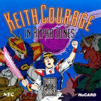 Keith Courage in Alpha Zones per PC Engine