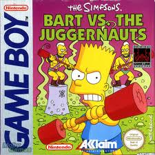 The Simpsons: Bart vs the Juggernauts per Game Boy