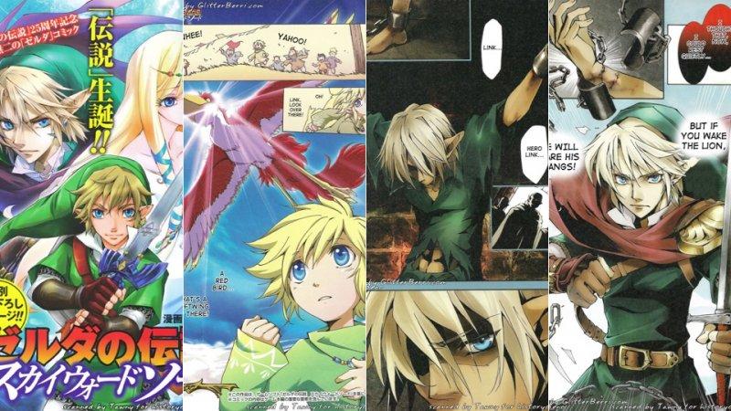 The Legend of Zelda: Skyward Sword, le prime pagine del manga