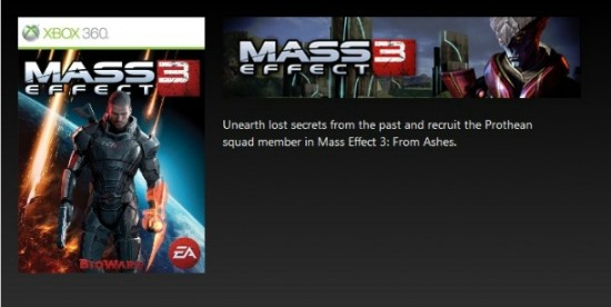 Mass Effect 3 - Spunta il DLC From Ashes