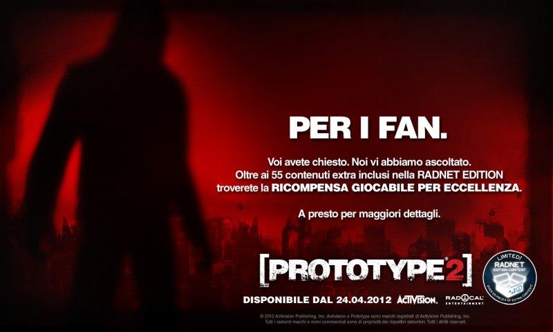 """Una """"ricompensa speciale"""" per i fan di Prototype 2"""