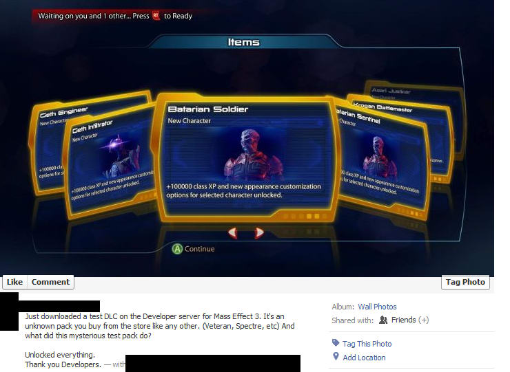 Mass Effect 3: avvistato il primo DLC multiplayer