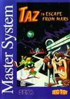 Taz in Escape from Mars per Sega Master System