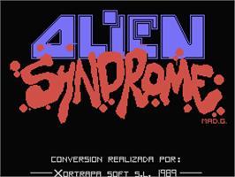 Alien Syndrome per MSX