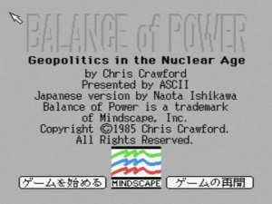 Balance of Power per MSX