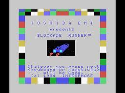 Blockade Runner per MSX