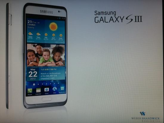 Un'immagine e alcuni rumor per il Galaxy Samsung S III