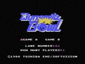 Dynamite Bowl per MSX